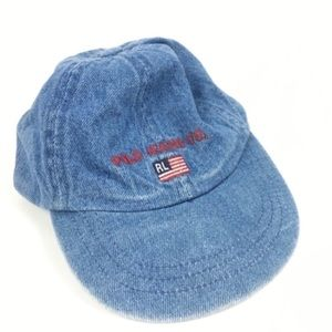 Polo Jeans Co Ralph Lauren Infant Hat Denim Flag